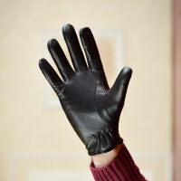 №【2019新款】冬天带的触屏修手小山羊皮手套男士加绒薄款开车驾驶骑行真皮手套