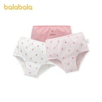 巴拉巴拉女童内裤棉质平角女童短裤中大童小童印花可爱舒适3条装