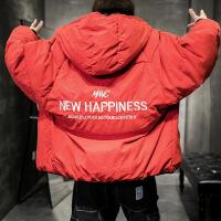 冬季男外套棉衣韩版短款个性潮流冬装双面穿学生时尚帅气棉袄 8105红色两面穿 170/L