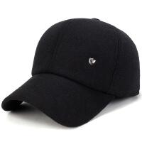 №【2019新款】冬天带的帽子男中年户外休闲棒球帽老年加厚护耳毛呢帽爸爸鸭舌帽 可调节
