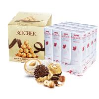费列罗 Raffaello 拉斐尔巧克力 椰蓉扁桃仁糖果酥球 48粒+ 榛果威化巧克力 48粒 组合