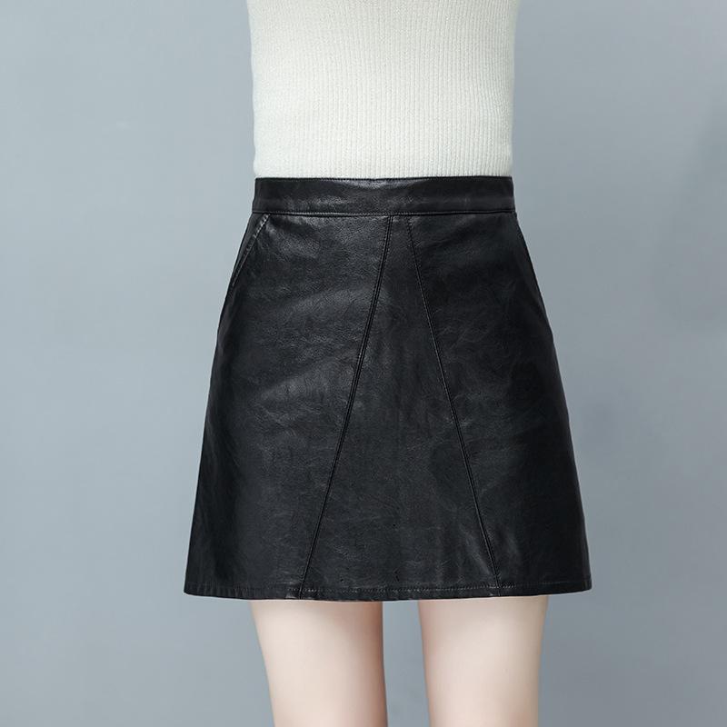 小皮裙半身裙女秋冬2018新款半身pu裙短裙女秋ins超火的裙子韩版
