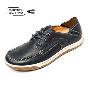 Camel Active/骆驼动感低帮板鞋真皮透气男鞋英伦潮男休闲鞋男