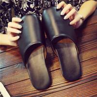 皮拖鞋男女包头棉家居家春秋冬季地板室内牛筋底防滑