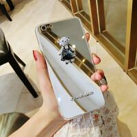 韩国6sp网红镜面iPhone7plus手机壳潮8p软硅胶套苹果x水钻裙熊女