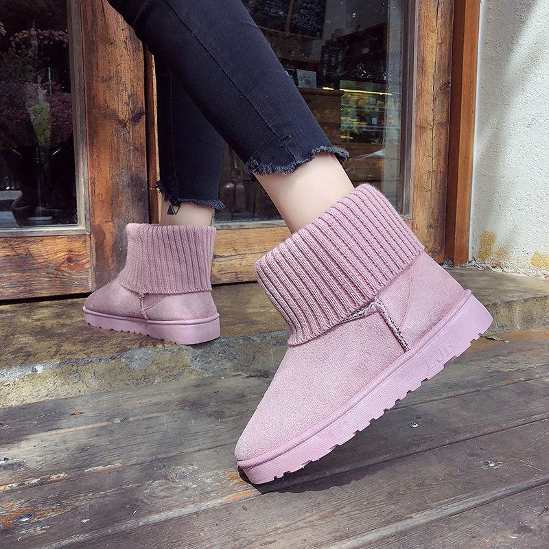 雪地靴女款学生韩版可爱女士棉鞋冬季新款加厚百搭短筒保暖棉靴子
