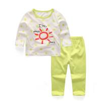 儿童空调服纯棉睡衣宝宝夏装薄款男童内衣套装女童家居服