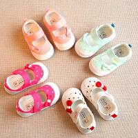 春秋女童鞋公主鞋婴儿幼儿学步鞋单鞋宝宝布鞋子