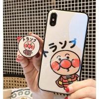 面包超人气囊支架华为nova3ei荣耀V10/8x/7mate9玻璃p20pro手机壳