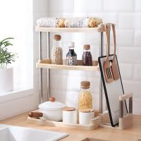 厨房调料置物架 多功能厨房置物架双三层浴室卫生间收纳架调料架