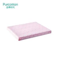 全棉时代粉色小花朵婴儿纱布浴巾80x140cm 1条装