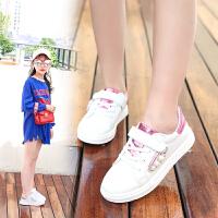 儿童板鞋宝宝休闲运动鞋学生小白鞋秋季女童鞋子