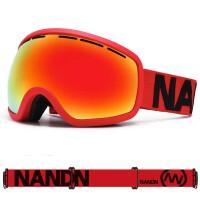 NANDN滑雪镜 双层防雾大球面镜片 大视野防风滑雪眼镜男女款
