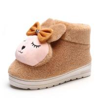 冬季棉拖鞋女保暖居家室内月子厚底防滑包跟毛棉鞋