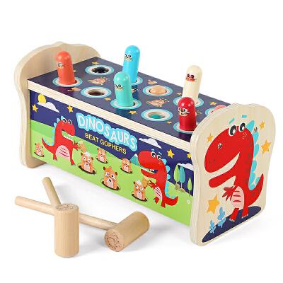 木质打地鼠玩具幼儿童益智力婴儿1一2岁半3男孩女孩宝宝敲打大号