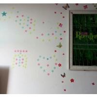 夜光荧光星星立体3d墙贴 DIY儿童宝宝房间卧室客厅天花板装饰贴纸
