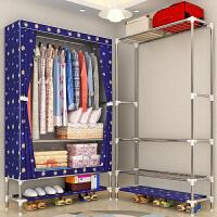简易布衣柜 25MM钢管加粗加固单人组装布艺收纳衣橱挂衣架经济型抖音同款