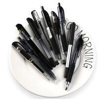 日本三菱uni中性笔0.38/0.5考试黑笔uni-ball小浓芯学生用按动水笔速干UMN-S/um100/um151走