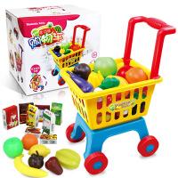 儿童购物车大号超市手推车玩具幼儿园过家家玩具蔬菜水果套装.