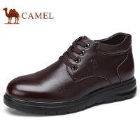 camel 骆驼男鞋 秋冬新品商务休闲保暖真皮商务靴男士皮鞋