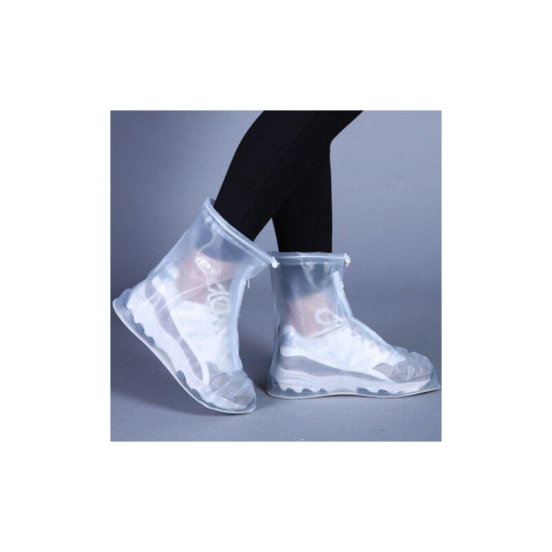 下雪软底雨鞋套防雨鞋车间白色男童中大童外穿可爱劳保女孩防水小