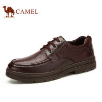 camel 骆驼男鞋秋季新品商务正装真皮系带男士皮鞋舒适耐磨鞋