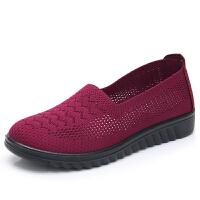 老北京布鞋女网鞋夏季透气网眼妈妈鞋中老年人女鞋软底舒适平跟鞋