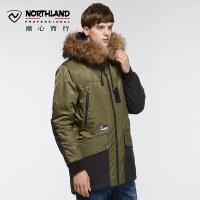 【品牌特惠】诺诗兰新款户外男式防风防水中长款棉服KP065702