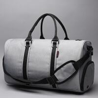 2018新款PICANO男女健身包大容量运动休闲手提旅行包短途出差行李包旅游袋 雅致灰 升级版