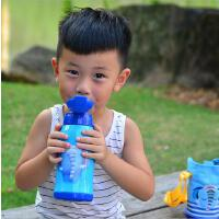 儿童水杯吸管杯防漏背带宝宝保温杯女童喝水壶小孩水瓶