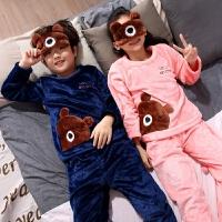 儿童睡衣秋冬季珊瑚绒长袖男童女童小孩家居服宝宝套装