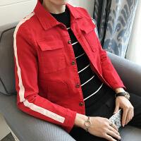 新品春季男款韩版潮流薄款牛仔衣夹克潮男时尚短款修身外套男