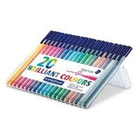 STAEDTLER施德楼334 SB20 20色彩色针管笔纤维笔 勾线笔 草图笔