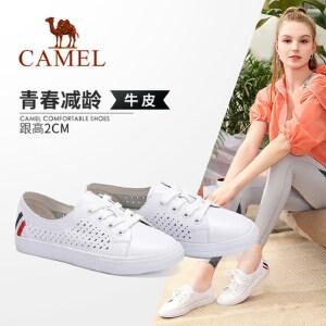 camel 骆驼女鞋 2018春季新款 镂空透气平底单鞋韩版学生休闲鞋女