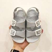 2019年夏季男童鞋英伦2-6岁宝宝童凉鞋儿童防滑凉鞋小童塑料软底沙滩鞋运动机能鞋小孩休闲沙滩鞋