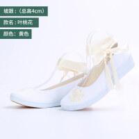 古风汉服鞋子女搭配绣花民族风高跟平底老北京布鞋 34 女款