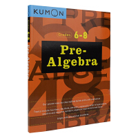 Kumon Pre-Algebra Grades 6-8 公文式教育 小升初衔接教辅 代数 六年级~八年级儿童数学 儿