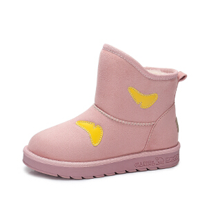 camel/骆驼女鞋 2017冬季新款 韩版百搭学生雪地靴女保暖防滑短筒女靴子