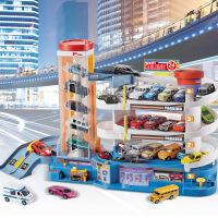 越诚汽车大楼停车场玩具套装大型多层赛道赛车电动轨道车儿童男孩 生日礼物六一圣诞节新年礼品