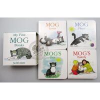 My First Mog Books 小猫格格4本纸板书合集 英文原版绘本 小猫格格系列 朱迪丝克尔 撕不烂纸板书 英文
