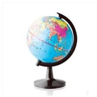 得力3031地球仪 中英地形 学生用品 教学用品 直径10.6mm 买就送放大镜一个