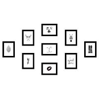 【加宽加厚】北欧装饰画9个5寸7寸10寸相框组合九宫格9宫格照片墙