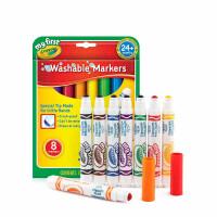 绘儿乐Crayola宝宝可水洗水彩笔 幼儿园圆头涂鸦绘画笔儿童水彩笔