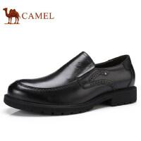 camel 骆驼男鞋 秋季新品商务休闲低帮鞋真皮套脚舒适男士皮鞋