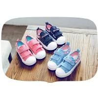 儿童帆布鞋女童板鞋秋百搭鞋子布鞋