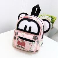 韩版时尚米奇儿童幼儿园书包帆布双肩包卡通休闲迷你小背包
