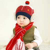 宝宝帽子秋冬天儿童毛线帽6-12个月婴儿帽子小孩帽男女