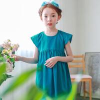 新品夏季童装韩版女童连衣裙短袖中大童宽松版童裙子