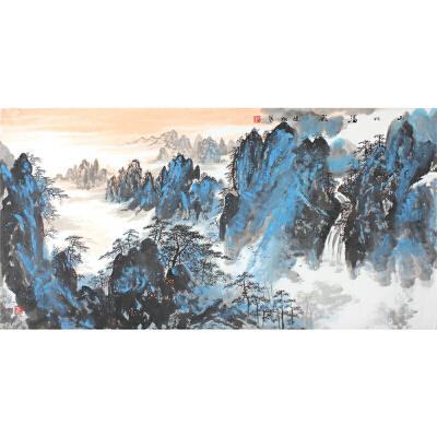 健松《山川溢彩》139*68CM