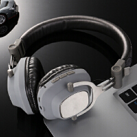 BaaN 无线耳机头戴式蓝牙耳机重低音降噪音乐耳机hifi立体声手机游戏耳机耳麦通用 银色